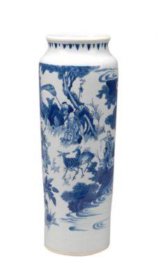 Zhong Kui Elephant Leg Vase.